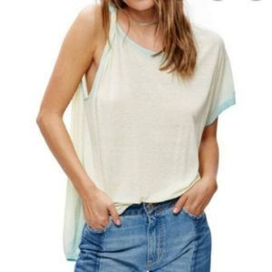 NEW Free People Cold Shoulder Asymmetric Top